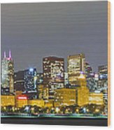 0247 Chicago Skyline Panoramic Wood Print