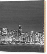 0248 Chicago Skyline Panoramic Wood Print