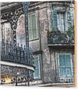 0275 New Orleans Balconies Wood Print