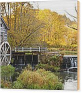 0289 Hyde's Mill Wisconsin Wood Print