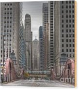0295 Lasalle Street Chicago Wood Print