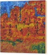 032 Abstract Landscape Wood Print