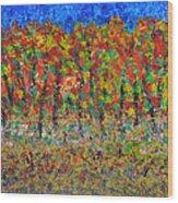035 Fall Colors Wood Print