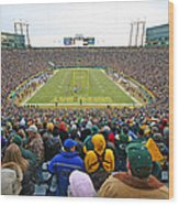 0350 Lambeau Field Wood Print