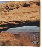 0375 Mesa Arch Wood Print
