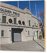 0417 Soldier Field Chicago Wood Print by Steve Sturgill