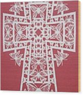 045 Butterfly-cross Wood Print