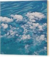 0459 Above The Caribbean Wood Print