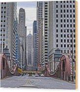 0525 Lasalle Street Bridge Chicago Wood Print