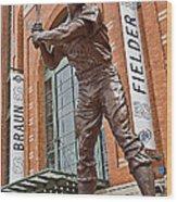 0620 Hank Aaron Statue Wood Print