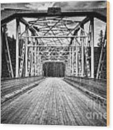 0648 Bow River Bridge Wood Print