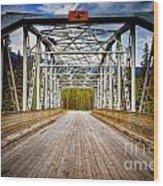 0649 Bow River Bridge Wood Print