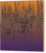 0740 Abstract Thought Wood Print