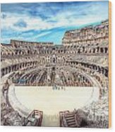 0795 Roman Colosseum Wood Print