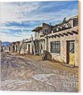 0926 Sky City - New Mexico Wood Print