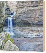 0940 Cascade Falls - Matthiessen State Park Wood Print
