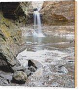 0941 Cascade Falls - Matthiessen State Park Wood Print
