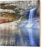 0943 Cascade Falls - Matthiessen State Park Wood Print