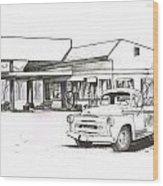 095b-truck Wood Print