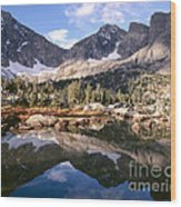 Cirque Of The Towers In Lonesome Lake 5 Wood Print