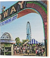 Midway Fun And Excitement  Wood Print