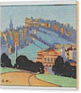 Edinburgh  General View        Date Wood Print
