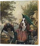 English Springer Spaniel Art Canvas Print Wood Print