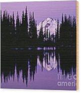 Glacier Peak  In Image Lake Wood Print