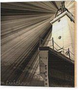 Ludington  Light House Michigan Wood Print