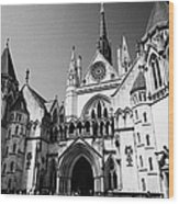 The Royal Courts Of Justice London England Uk Wood Print