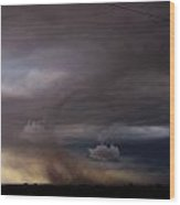 052913 - Severe Storms Over South Central Nebraska Wood Print