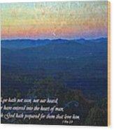 1 Corinthians 2 9 Wood Print