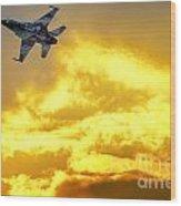 1-iaf F-16i Fighter Jet Wood Print