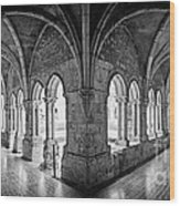 13th Century Gothic Cloister Wood Print