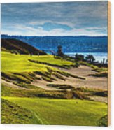 #16 At Chambers Bay Golf Course - Location Of The 2015 U.s. Open Tournament Wood Print by David Patterson