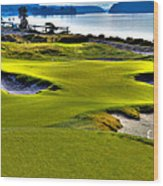 #17 At Chambers Bay Golf Course - Location Of The 2015 U.s. Open Championship Wood Print by David Patterson