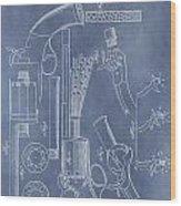 1856 Revolver Patent Wood Print