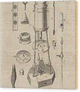 18th Century Microscope, Artwork Wood Print