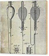 1902 Self Strike Fish Float Patent Wood Print