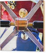 1907 Panhard Et Levassor Demi Toneau 38 Hp Steering Wheel Wood Print by Jill Reger