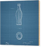 1915 Coca Cola Bottle Design Patent Art 3 Wood Print