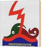 1924 - Austria Electricity Poster Advertisement - Color Wood Print