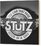 1925 Stutz Series 695h Speedway Six Torpedo Tail Speedster Emblem Wood Print