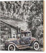1928 Ford Model A Wood Print by Robert Jensen