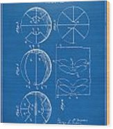 1929 Basketball Patent Artwork - Blueprint Wood Print