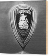 1930 Chrysler Plymouth Emblem Wood Print