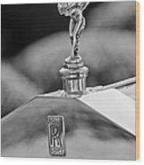 1930 Rolls-royce Phantom I Transformal Phaeton Hood Ornament Wood Print