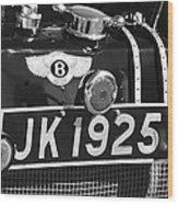 1931 Bentley 4.5 Liter Supercharged Le Mans Taillight Emblem Wood Print