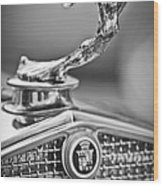 1931 Cadillac 355 Hood Ornament Wood Print