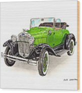 1931 Ford Model A Roadster Wood Print
